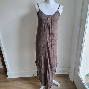 Native Outsiders Olive Casual Maxi Dress Medium